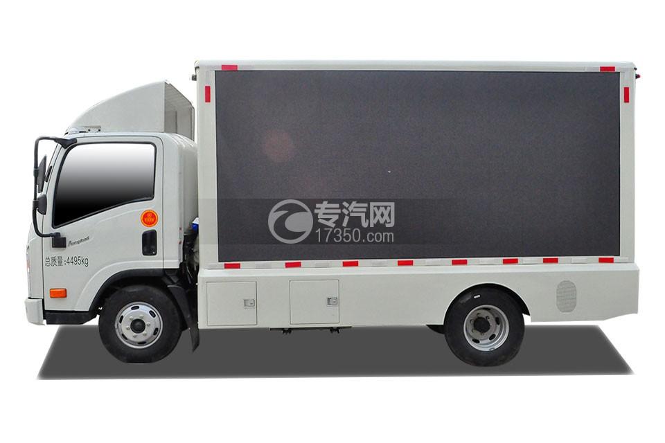 大运奥普力LED广告车侧面图