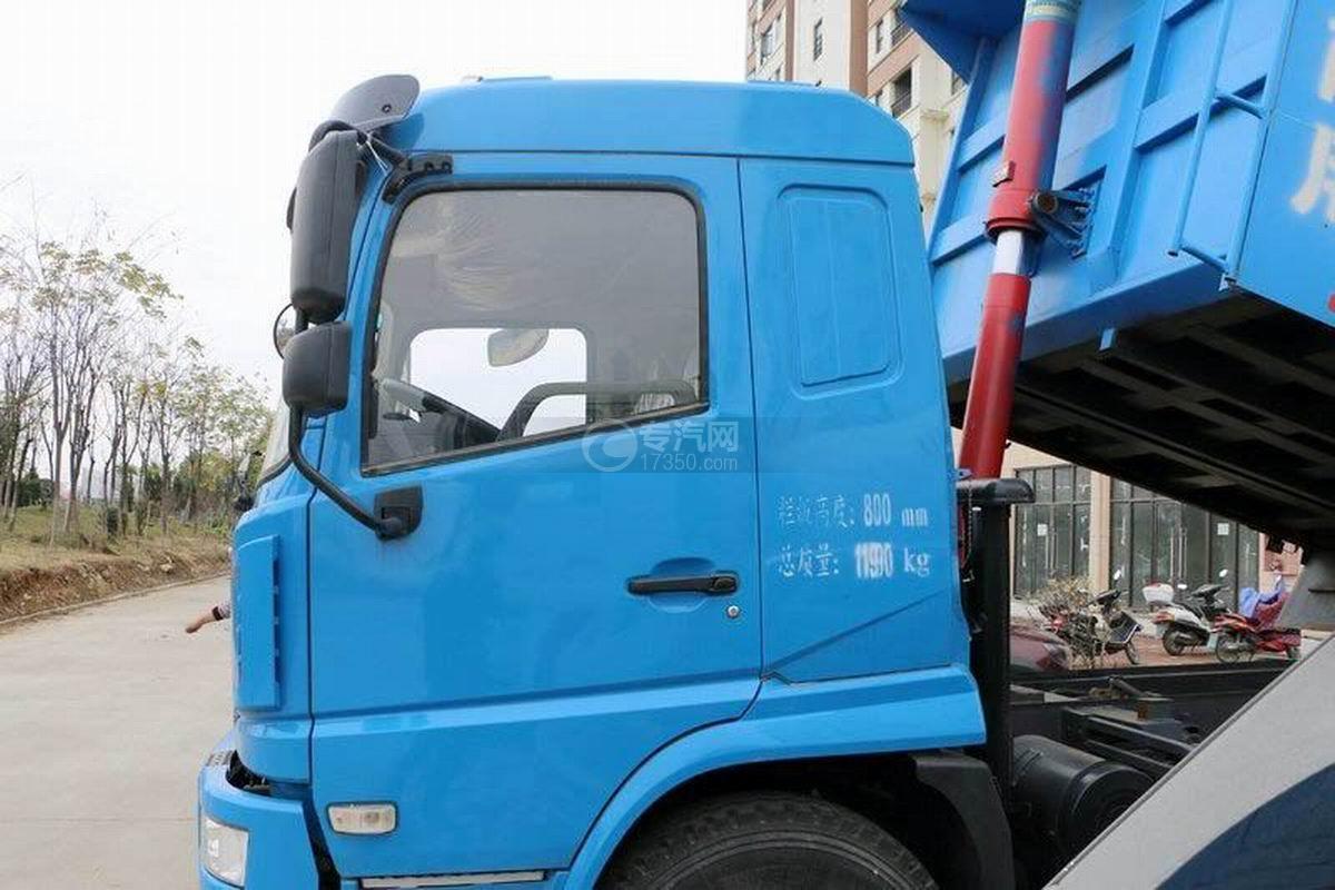 陕汽轩德X6单桥4.5米自卸车单缸直顶