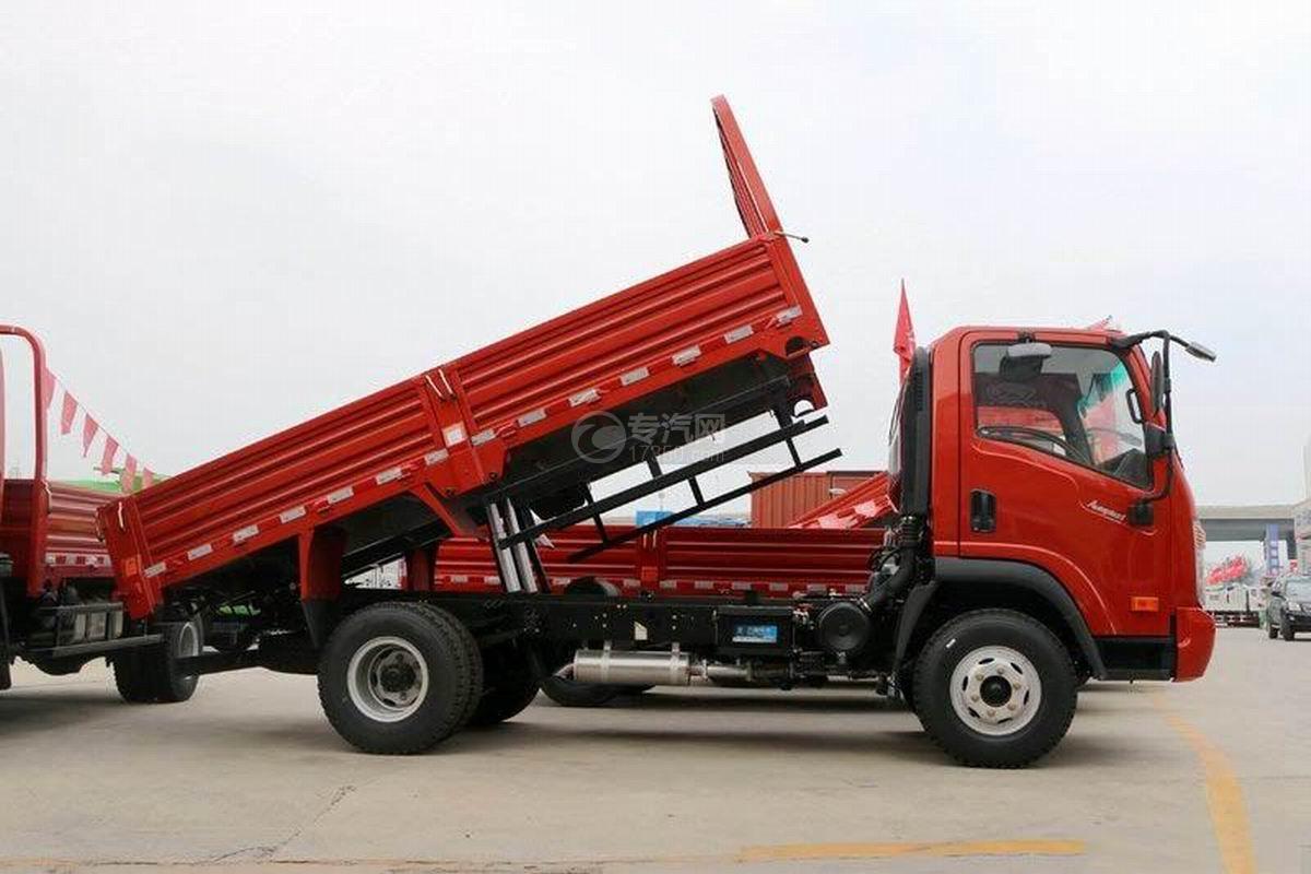 大运奥普力4.12米平板自卸车