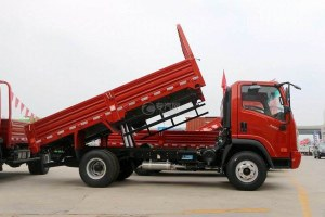 大运奥普力4.12米平板自卸车图片