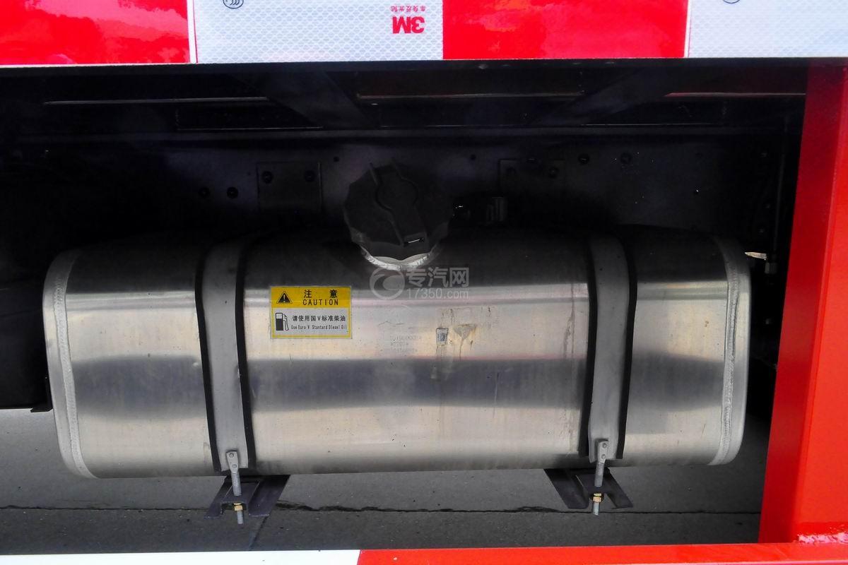 大运奥普力黄牌平板运输车油箱