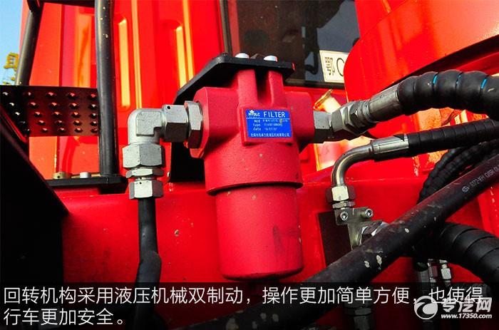 东风T5宏昌天马8吨直臂随车吊回转液压机构