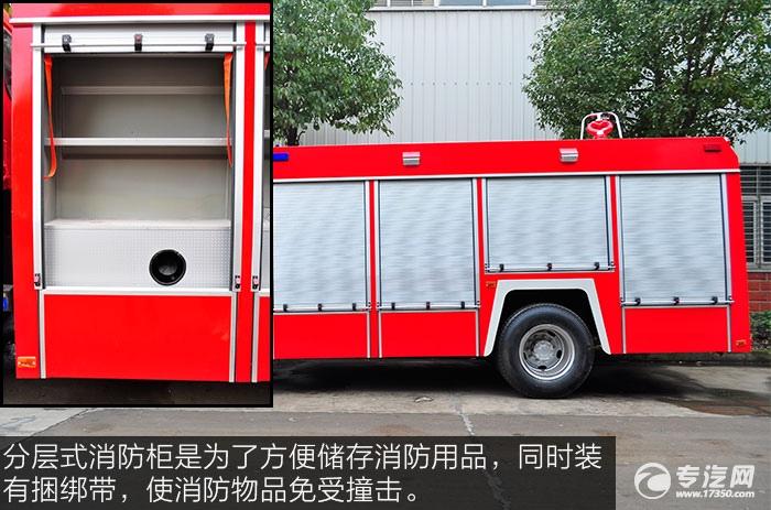 东风153消防车消防柜