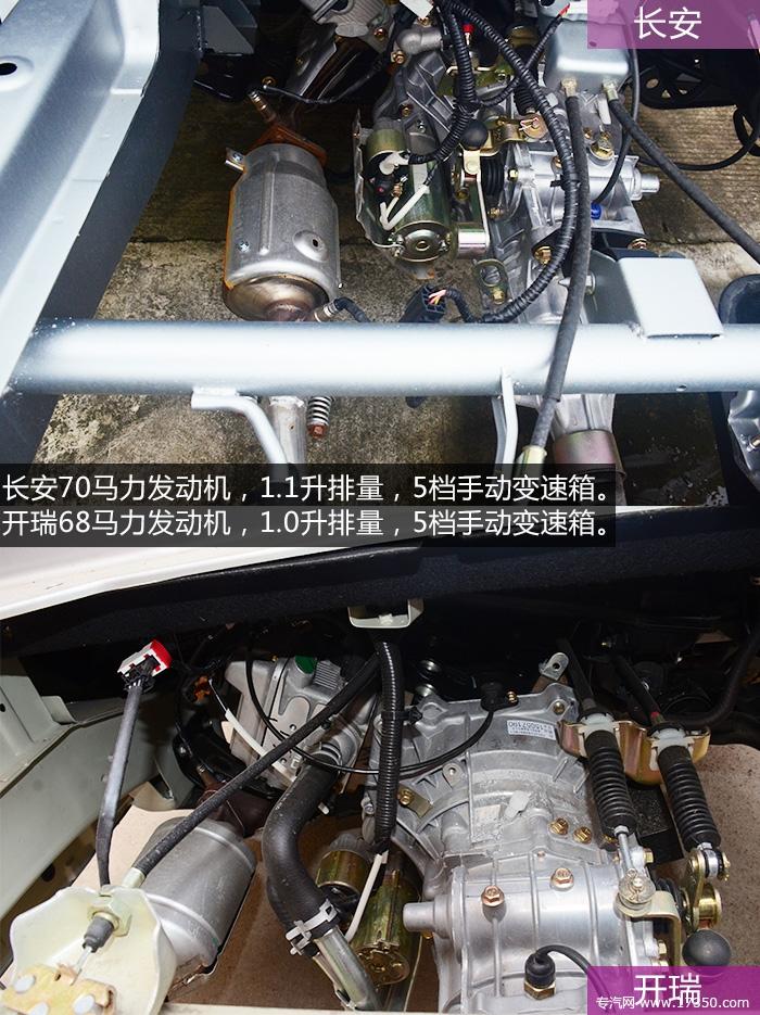 长安/开瑞发动机对比图