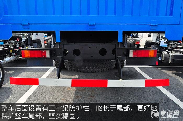 东风153小三轴徐工12吨直臂随车吊防护栏
