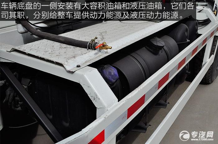 东风神宇御虎3.47方搅拌车油箱与液压油箱