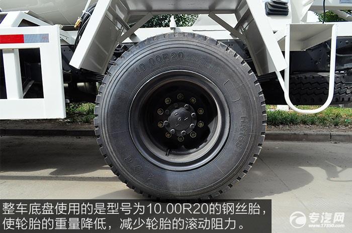东风神宇御虎3.47方搅拌车钢丝胎