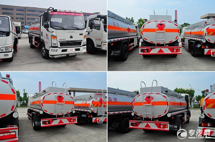 重汽豪沃5.2方加油车方位展示