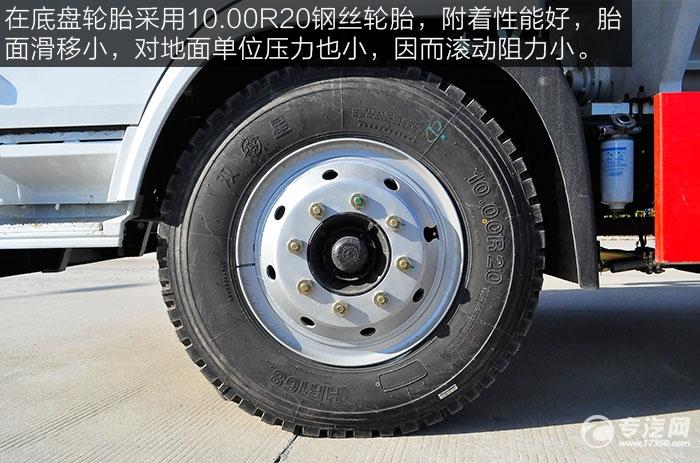陕汽轩德6系单桥散装饲料运输车轮胎