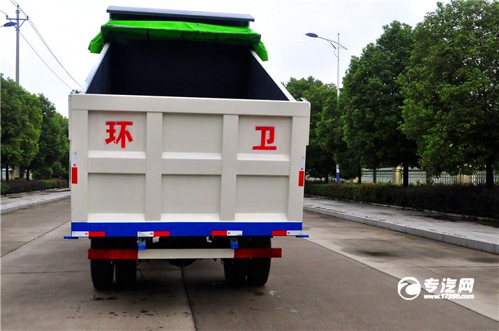 争做环保先锋大运奥普力排半自卸式垃圾车评测之上装篇液压厢体.jpg