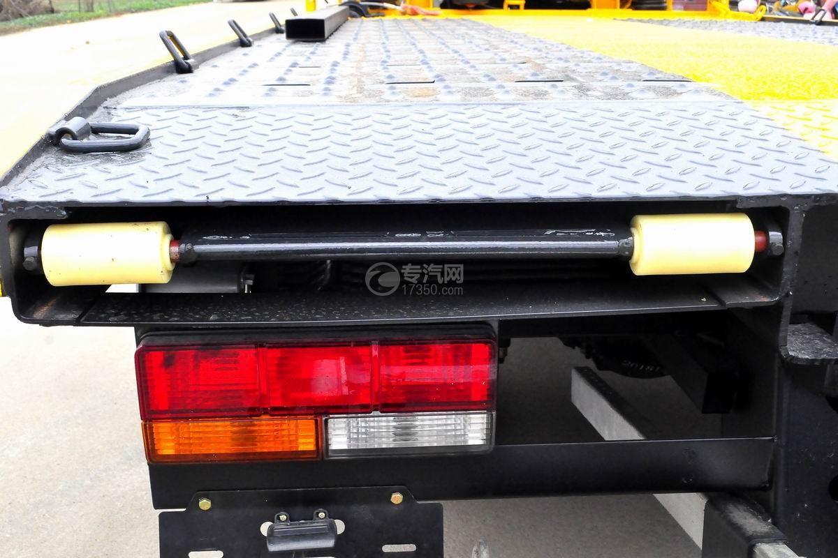 大运奥普力一拖二平板清障车伸缩板细节