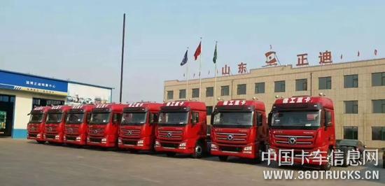 一见倾心俘获当地大客户,50台漢風危险运输车实现交付