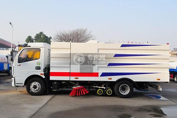 东风多利卡D7洗扫车侧面图