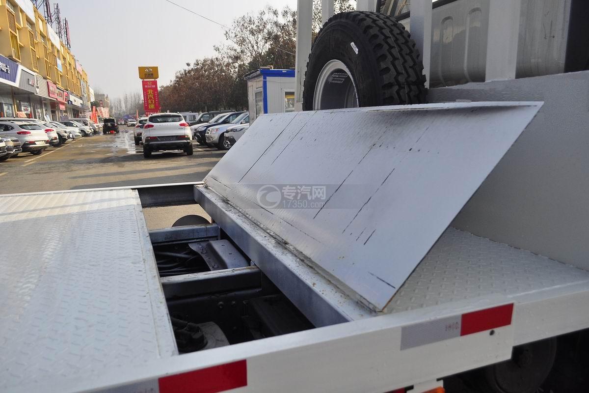 1大运奥普力平板运输车带伸缩板上装