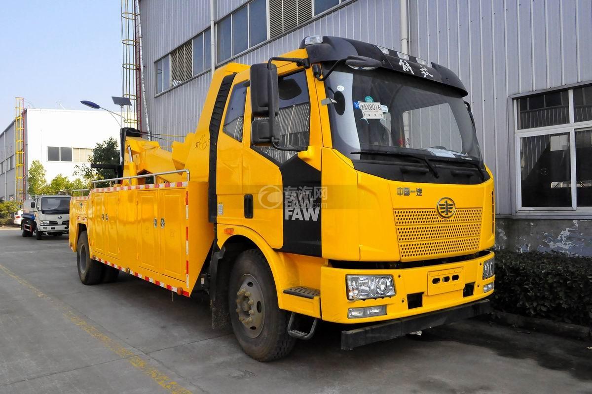 解放J6L拖吊联体清障车(黄色)图片