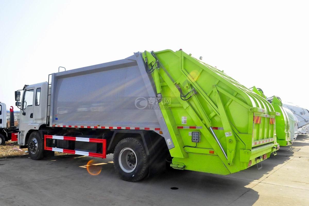 东风锦程12至14方压缩式垃圾车左后侧方图