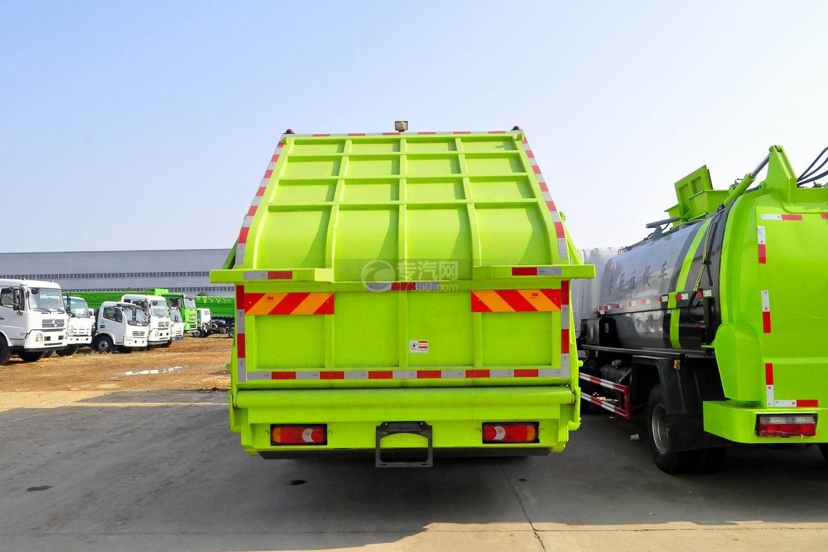 东风锦程12至14方压缩式垃圾车正后方图