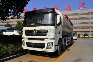 陕汽德龙X3000前四后八散装饲料运输车图片
