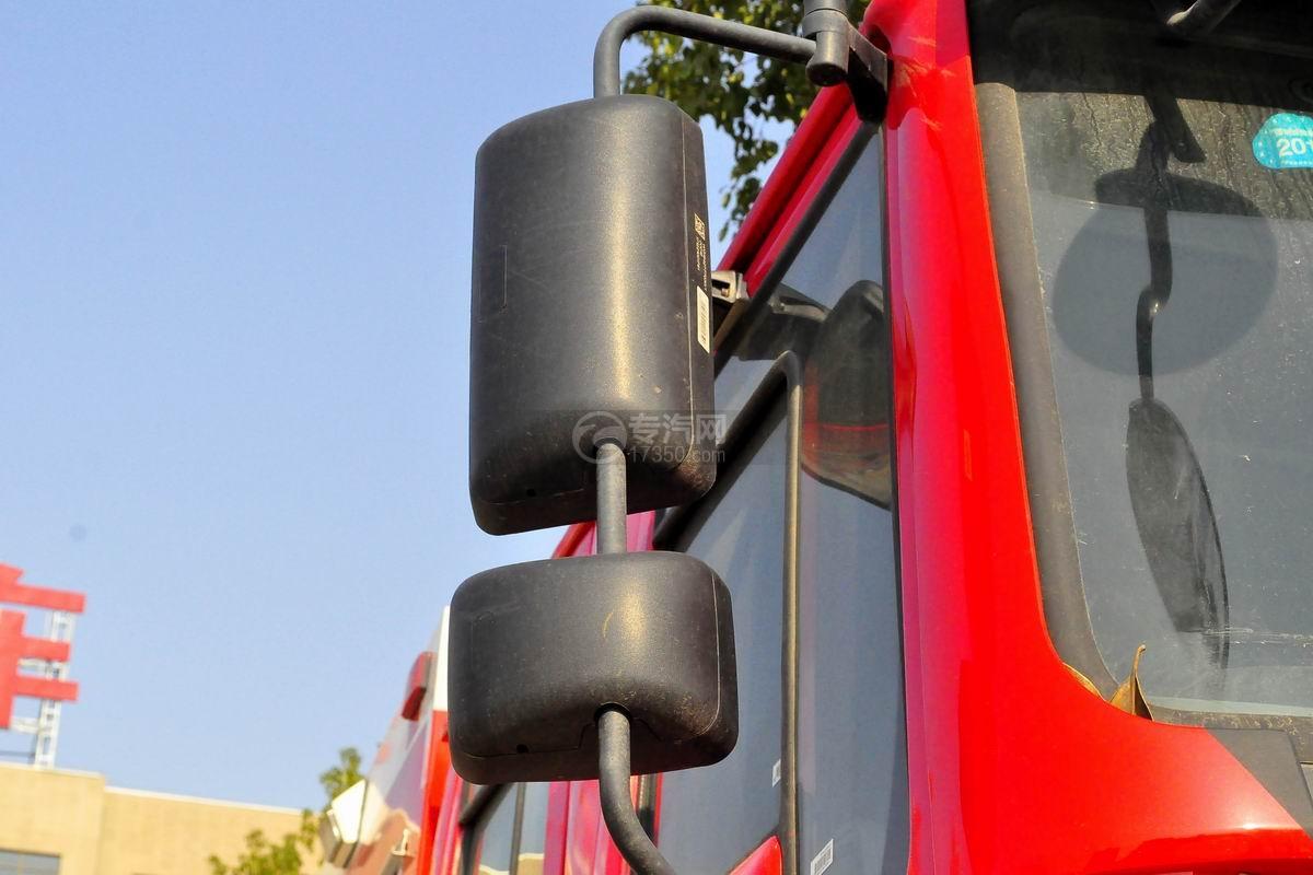 重汽豪沃单桥抢险救援消防车外观后视镜