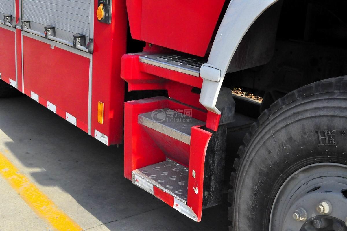 重汽豪沃单桥抢险救援消防车脚踏板