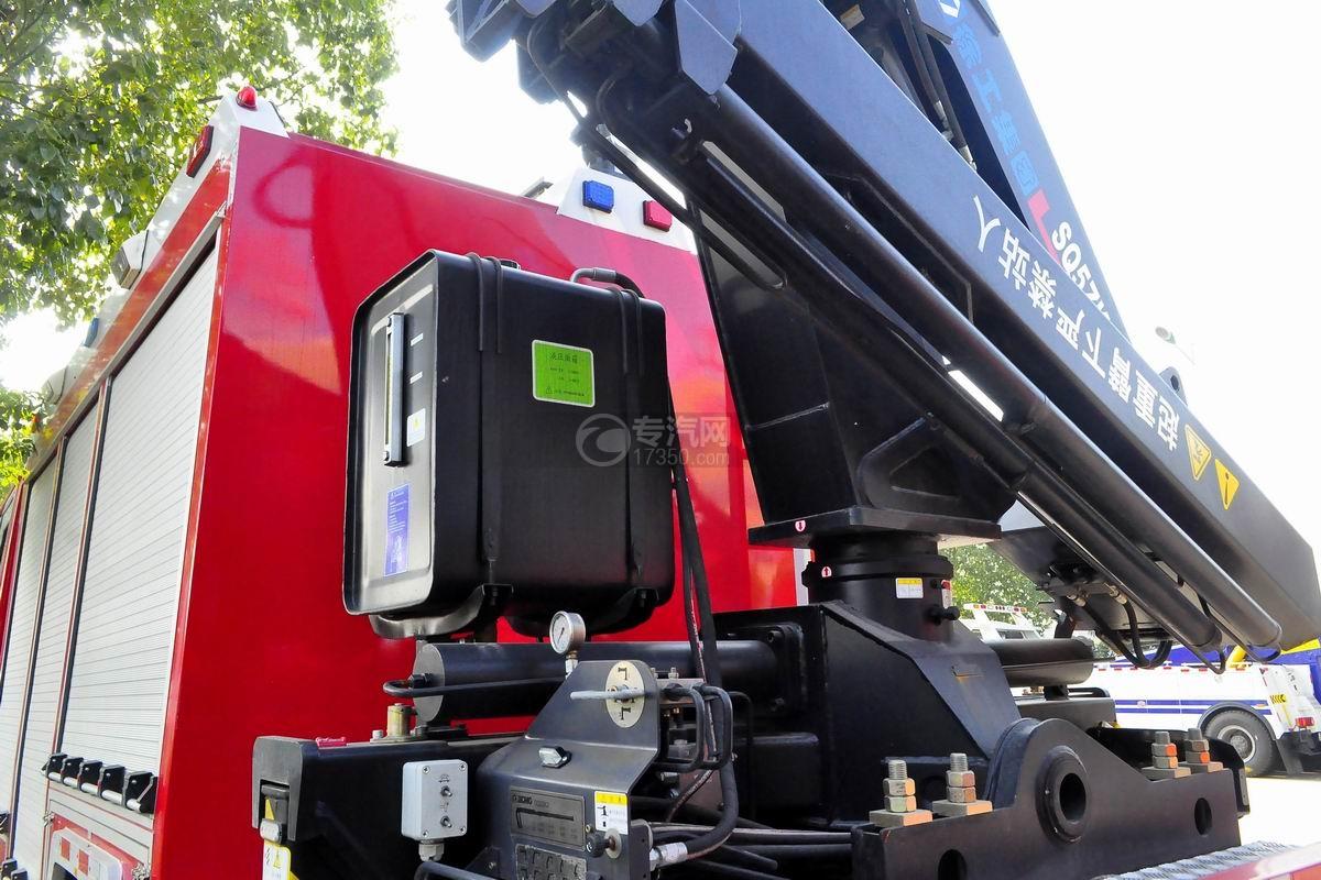 重汽豪沃单桥抢险救援消防车液压油箱