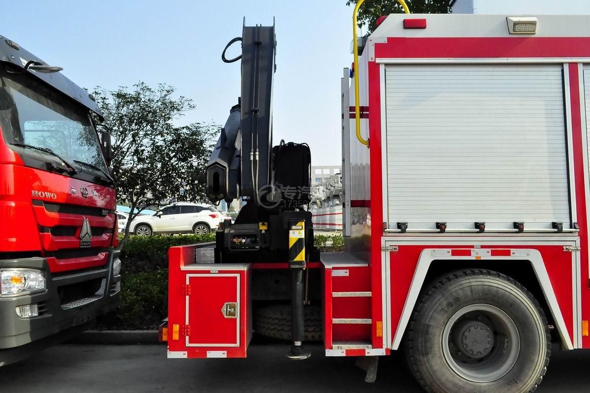 重汽豪沃单桥抢险救援消防车上装抢险吊
