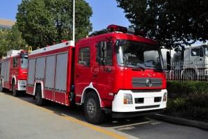 东风天龙单桥泡沫消防车图片