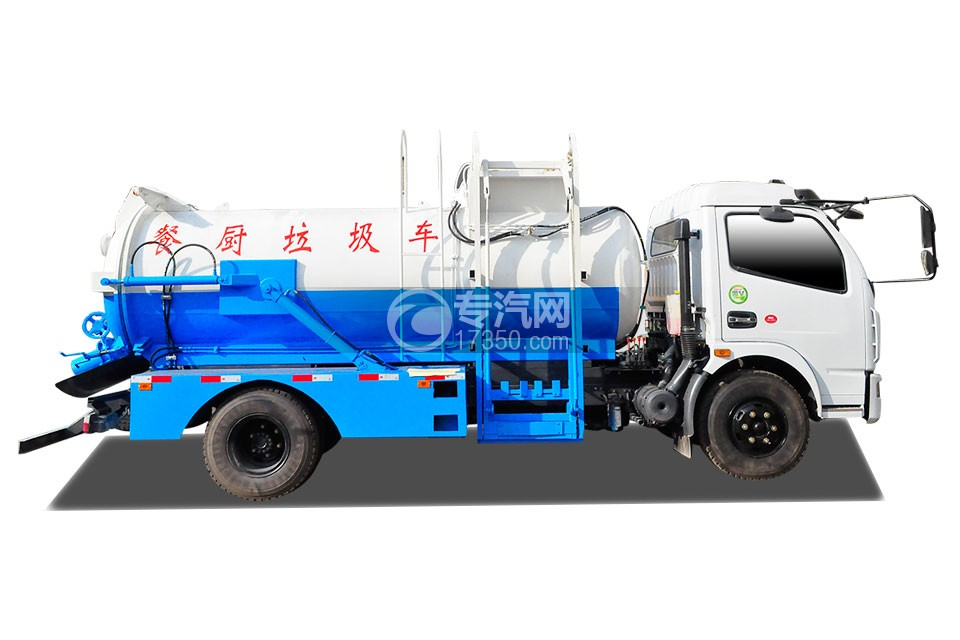 东风大多利卡餐厨式垃圾车侧面图
