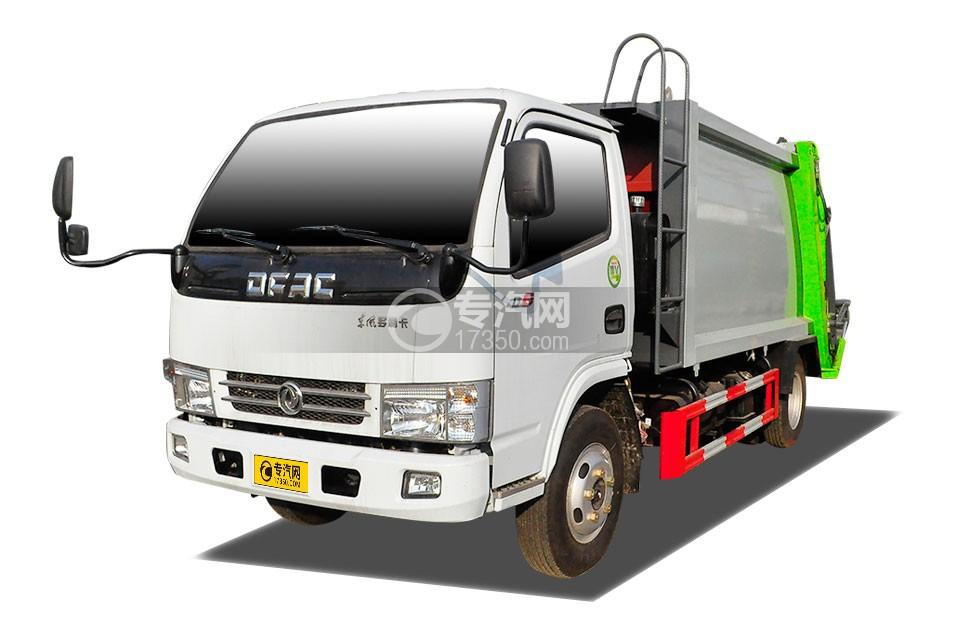 东风小多利卡压缩式垃圾车(绿色箱体)