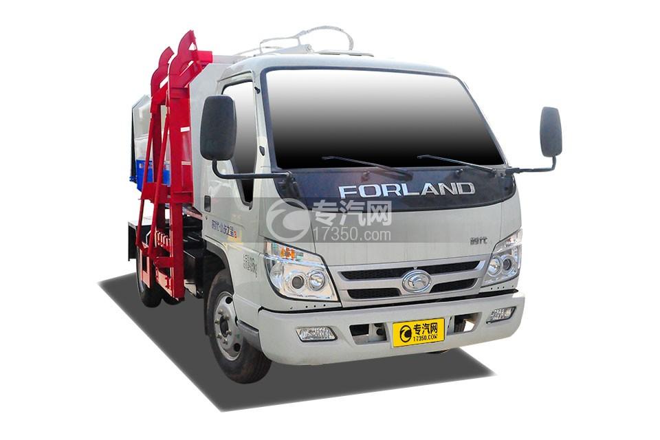 福田时代小卡之星3国五挂桶式垃圾车