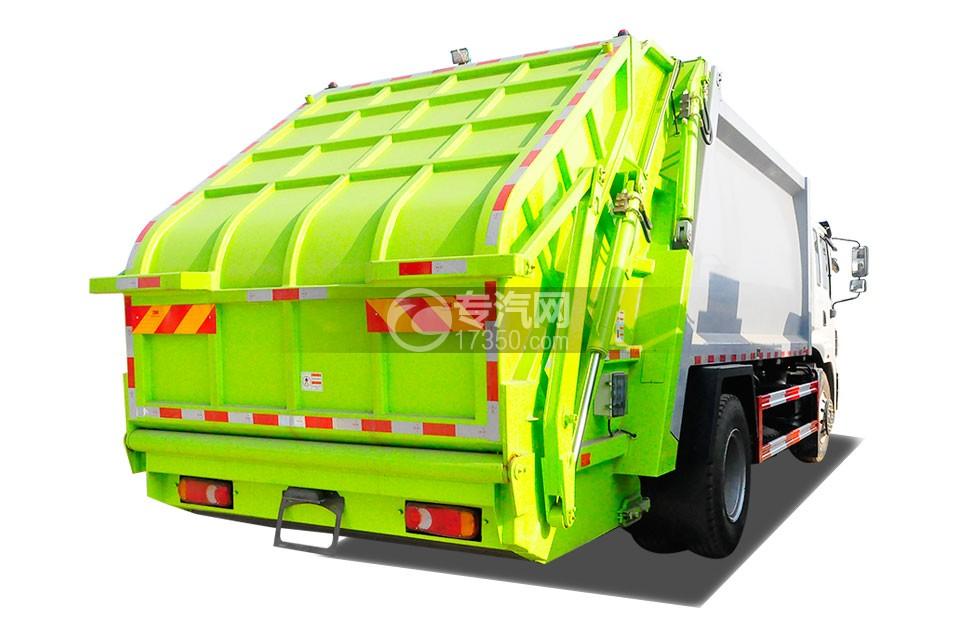 东风锦程12至14方压缩式垃圾车左后45度图