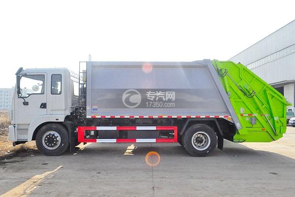 东风锦程12至14方压缩式垃圾车侧面图