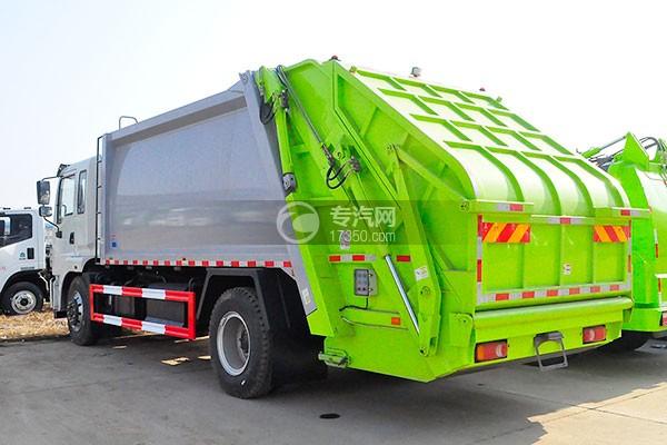 东风锦程12至14方压缩式垃圾车右后45度图