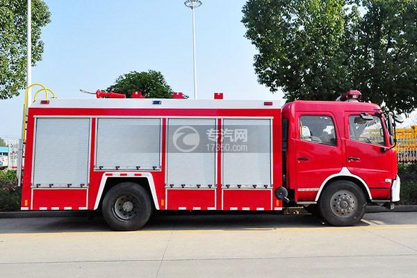 东风天龙单桥泡沫消防车侧面图