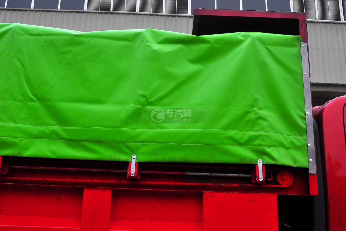 大运奥普力单排带篷布自卸式垃圾车篷布