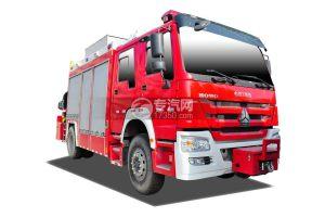 重汽豪沃单桥抢险救援消防车