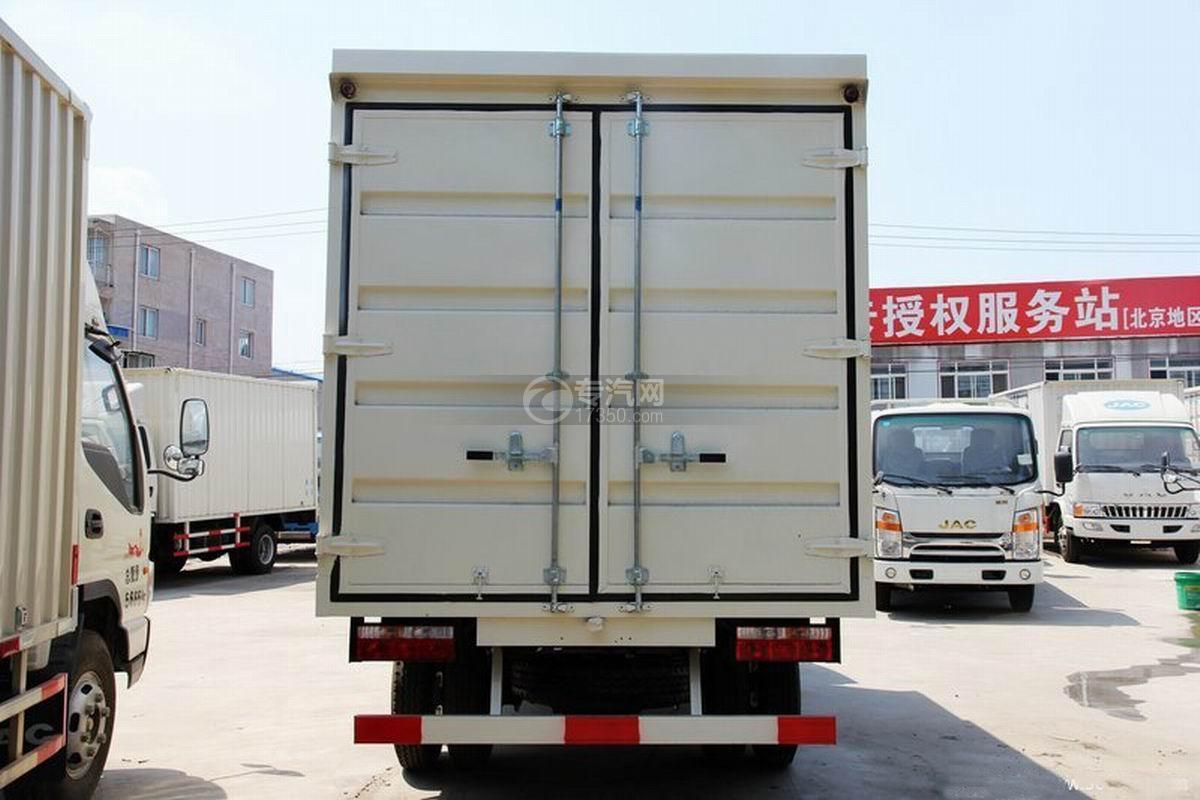 江淮骏铃H330单排4.15米厢式货车正后图