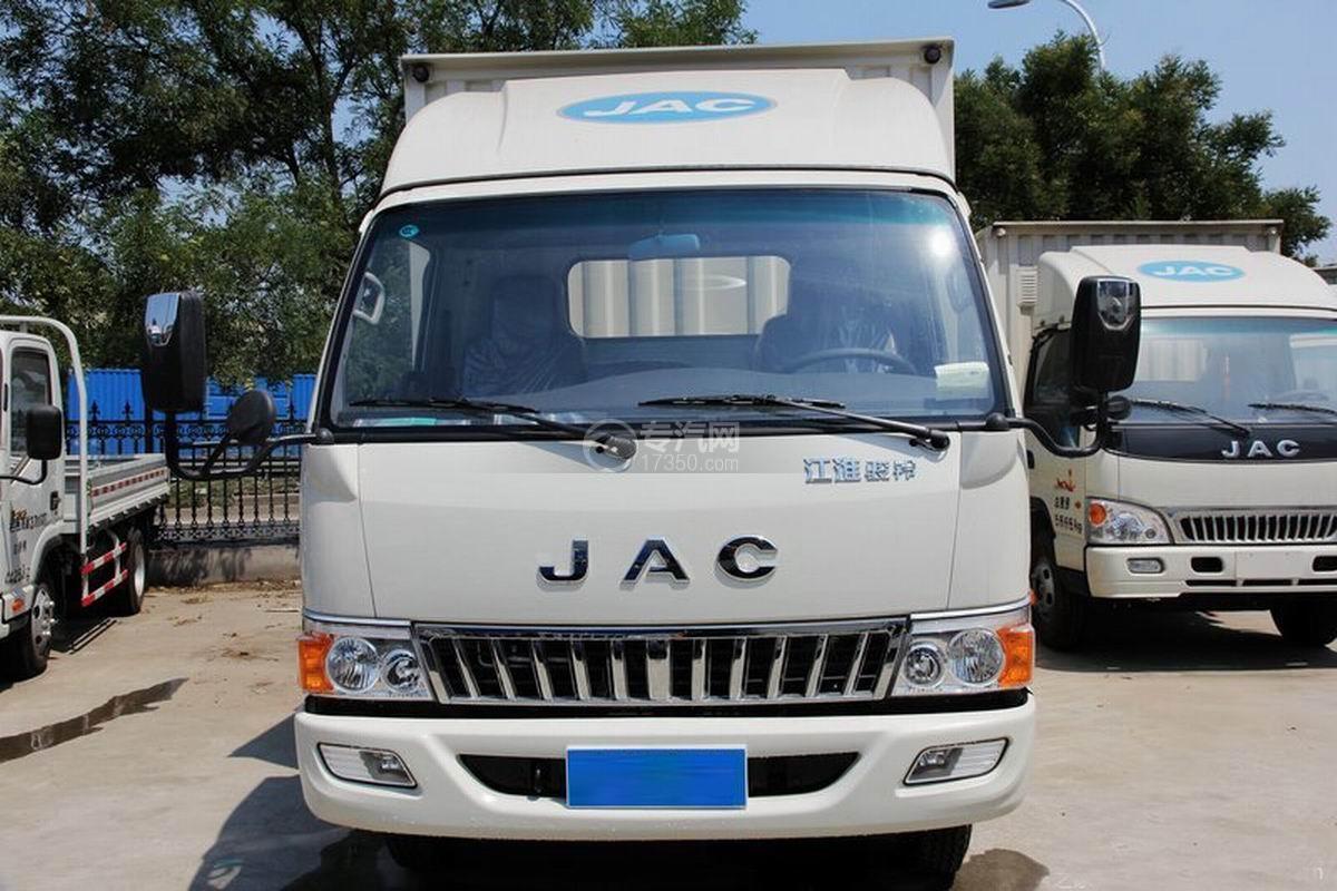 江淮骏铃H330单排4.15米厢式货车前脸细节