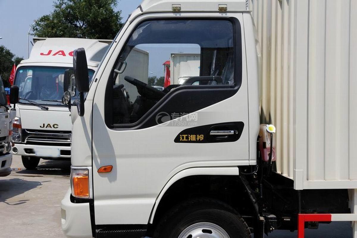 江淮骏铃H330单排4.15米厢式货车驾驶室细节