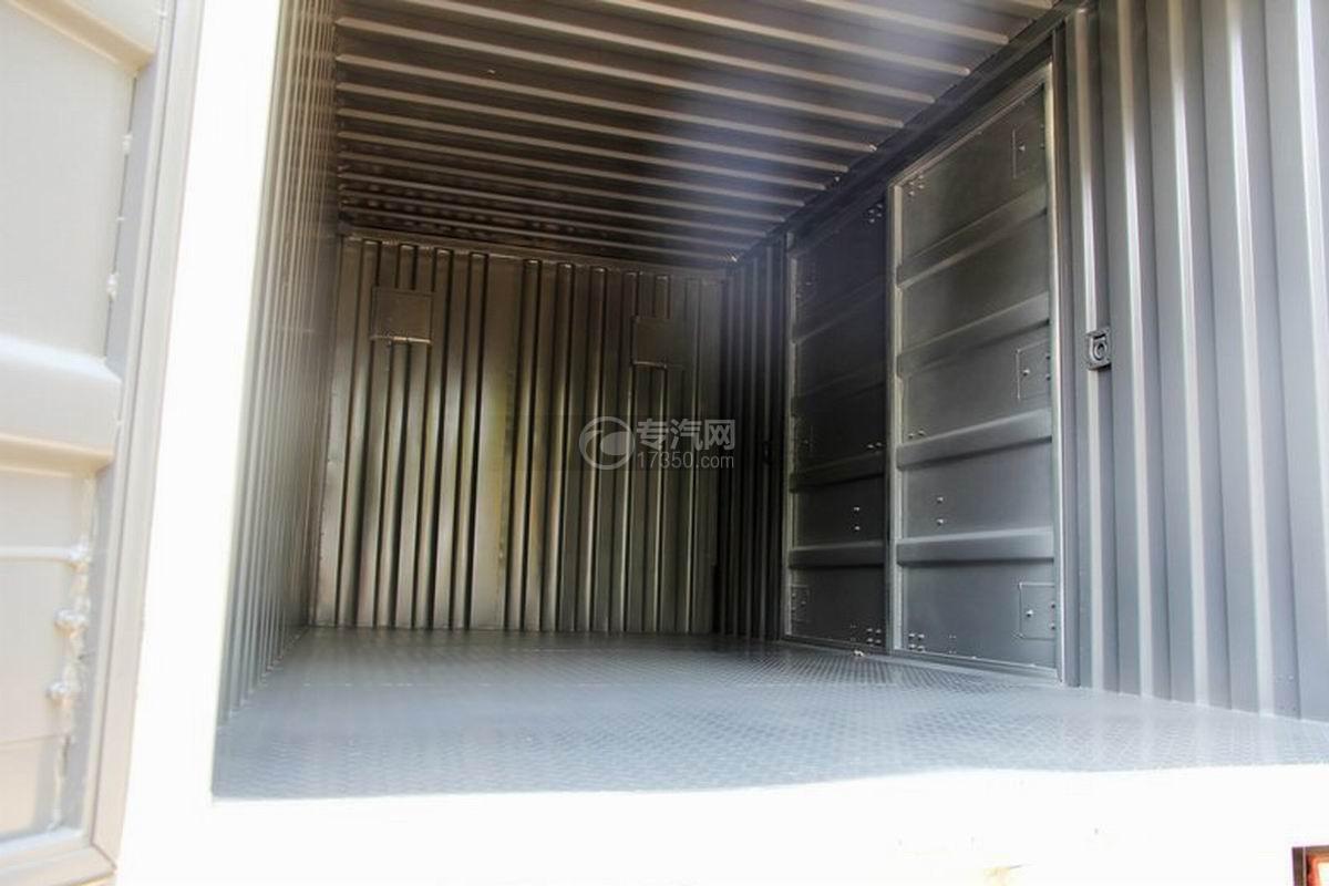 江淮骏铃H330单排4.15米厢式货车货箱内部细节