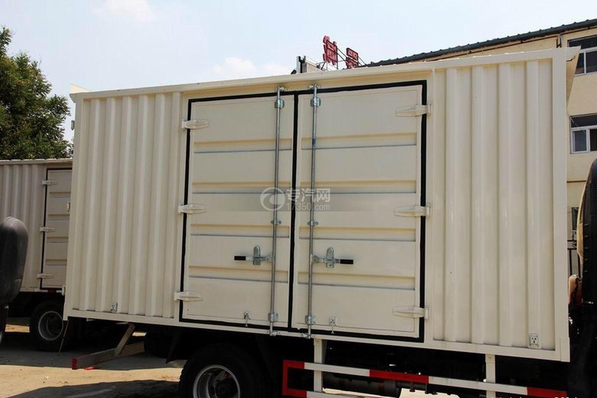 江淮骏铃H330单排4.15米厢式货车货箱细节