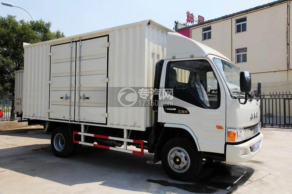 江淮骏铃H330单排4.15米厢式货车右前45度图