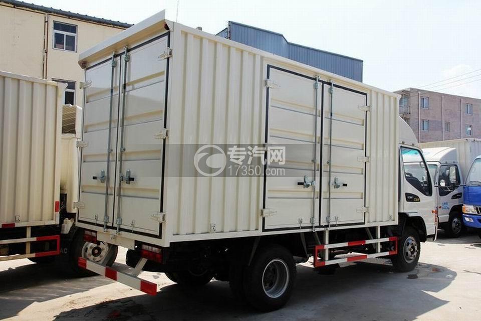 江淮骏铃H330单排4.15米厢式货车右后45度图