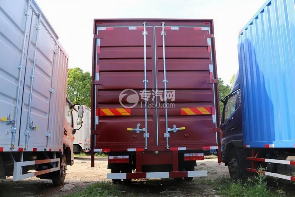 江淮帅铃Q3排半5.2米厢式货车正后图