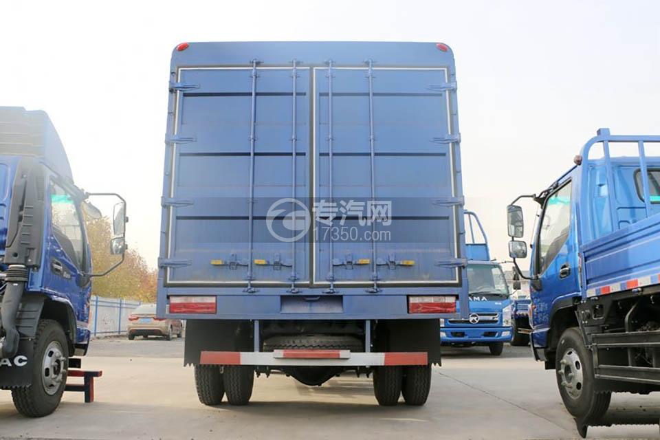 江淮康铃H5单排4.18米仓栅车正后图