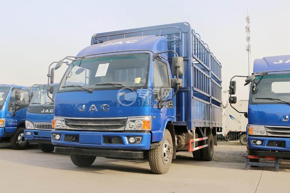 江淮康铃H5单排4.18米仓栅车左前图