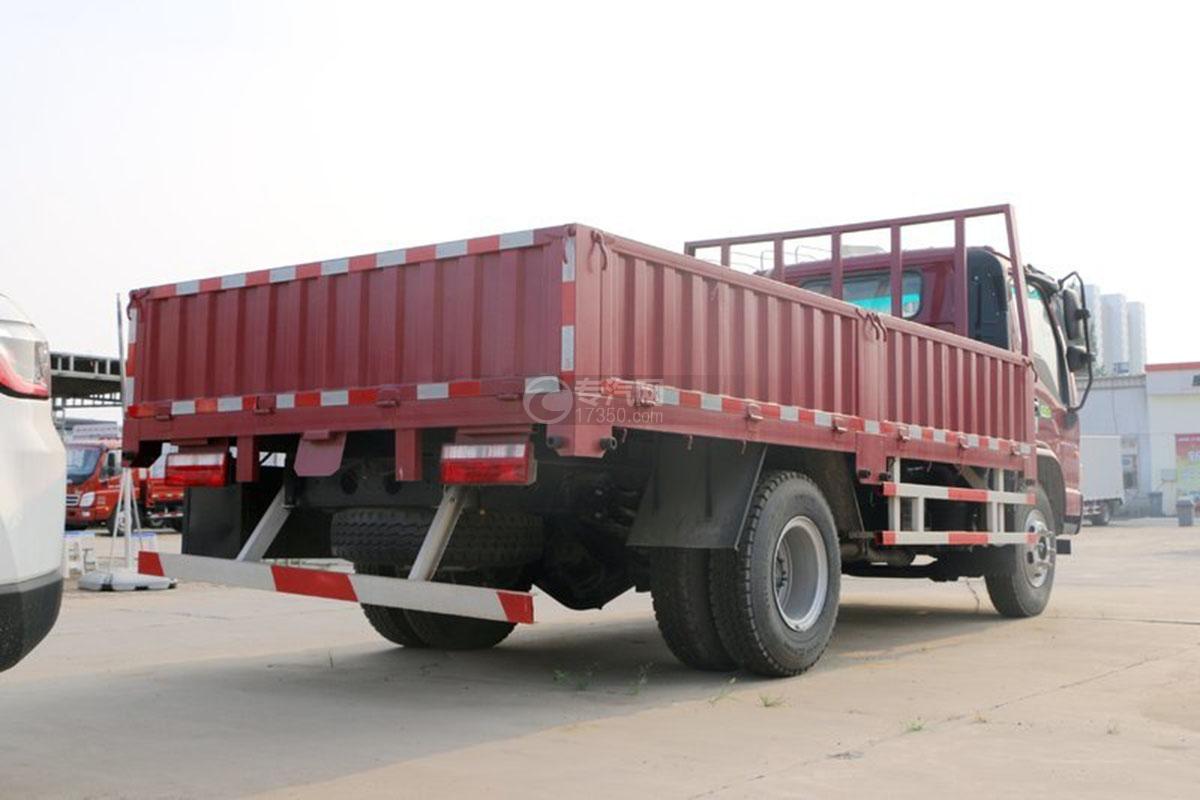 江淮骏铃E6单排4.18米载货车后侧方图