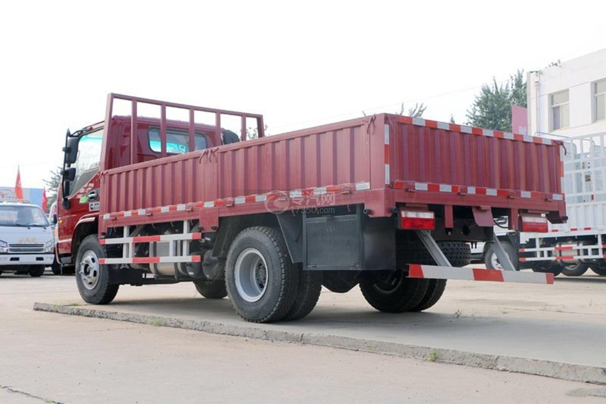 江淮骏铃E6单排4.18米载货车侧后方图
