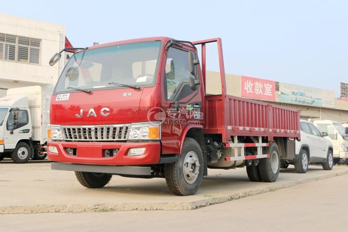 江淮骏铃E6单排4.18米载货车左前45度图
