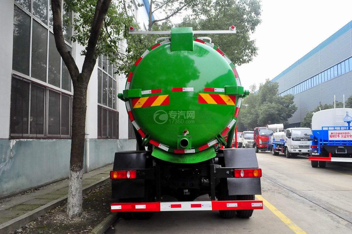 东风D913餐厨式垃圾车正后方图